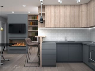 Minimalist kitchen by enki design Minimalist