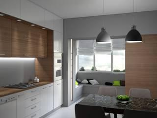 Кухни Кухня в стиле минимализм от enki design Минимализм