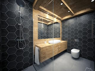 Industrial style bathroom by enki design Industrial
