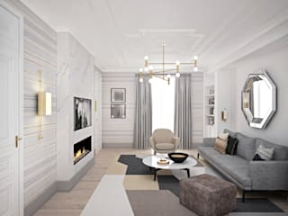 Minimalist living room by enki design Minimalist