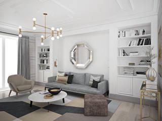 enki design Salones minimalistas Beige