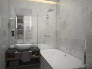 Дизайн гостиной в стиле минимализм: Ванные комнаты в . Автор – enki design
