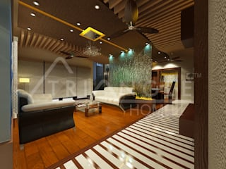 Luxury Interiors:  Living room by TRIANGLE HOMEZ