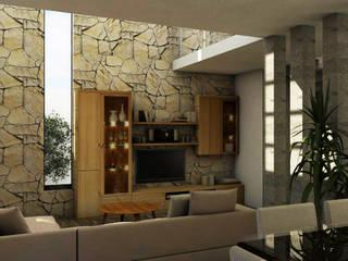 Casa Residencial CRC Salones mediterráneos de Bocetos Studio Aquitectos Mediterráneo