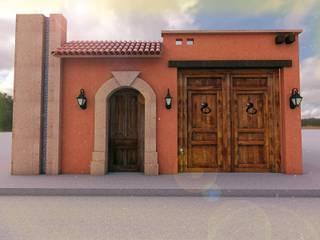 Casa Rustica ER:  de estilo colonial por Bocetos Studio Aquitectos, Colonial