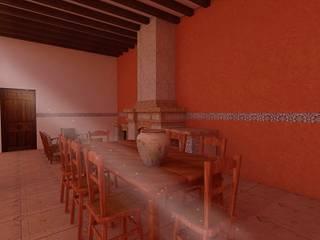 Casa Rustica ER Comedores coloniales de Bocetos Studio Aquitectos Colonial