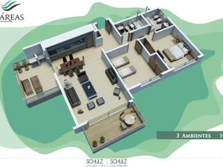 2 ambientes: Hoteles de estilo  por Estudio Schulz