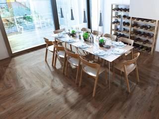 Piastrelle tipo legno serie Fedra: Pavimento in stile  di WEBTILES CERAMICHE