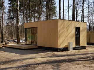modular houses: styl , w kategorii  zaprojektowany przez Hatek Janusz Zaręba Sp.J.