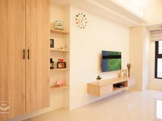 氧氣-2個人的20坪簡約北歐小家庭 根據 酒窩設計 Dimple Interior Design 北歐風