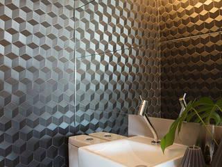 Lavabo Moderno: Banheiros  por Semíramis Alice Arquitetura & Design