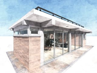 Casas de estilo  por Conceptual Studio ARQUITECTUR