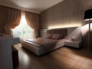 HEBART MİMARLIK DEKORASYON HZMT.LTD.ŞTİ. – Sinpaş lagün İris bahçe:  tarz Yatak Odası