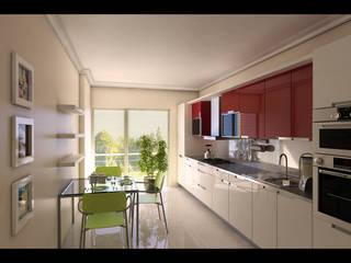 HEBART MİMARLIK DEKORASYON HZMT.LTD.ŞTİ. – Çekmeköy konut projesi: modern tarz Mutfak