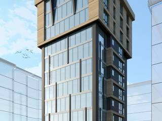 HEBART MİMARLIK DEKORASYON HZMT.LTD.ŞTİ. – Plaza mimari proje:  tarz Ofisler ve Mağazalar