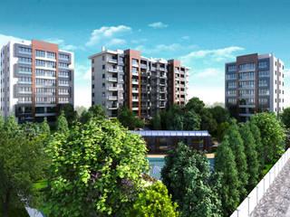 HEBART MİMARLIK DEKORASYON HZMT.LTD.ŞTİ. – Yenidoğan konut projesi:  tarz Apartman