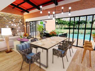 Casa Villa Real: Salas multimedia de estilo  por Conceptual Studio ARQUITECTUR
