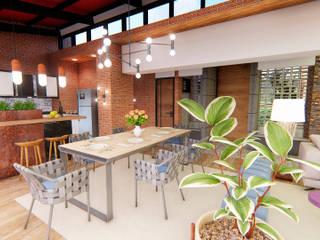 Casa Villa Real: Comedores de estilo  por Conceptual Studio ARQUITECTUR