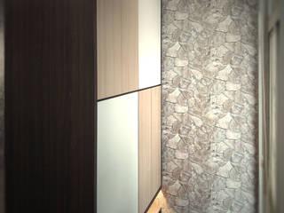 改造後入口玄關 現代風玄關、走廊與階梯 根據 以恩設計 現代風