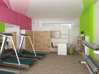 Desain Interior S Fitness Center Oleh CV Rancangbangun Arsitama Buana Modern