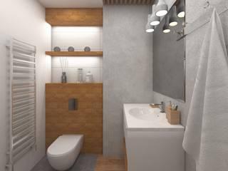 Mieszkanie Kraków: styl , w kategorii Łazienka zaprojektowany przez INTUS DeSiGn