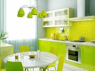 Mới lạ với mẫu nhà bếp màu xanh từ nội thất đến không gian Nhà bếp phong cách hiện đại bởi Thương hiệu Nội Thất Hoàn Mỹ Hiện đại