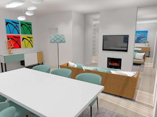 Apartamento Praia:   por Equevo - Interiores Design,Moderno