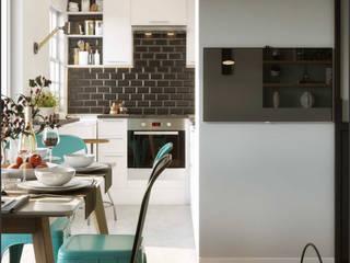 One Bedroom Appartement in Paris: Comedores de estilo  de Isabel Gomez Interiors