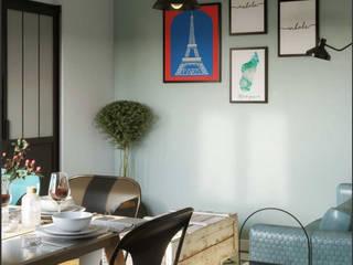 One Bedroom Appartement in Paris: Salones de estilo  de Isabel Gomez Interiors