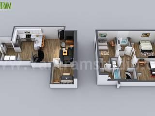 3D Home Floor Plan Designs By Yantram floor plan designer - Washington, USA Yantram Architectural Design Studio