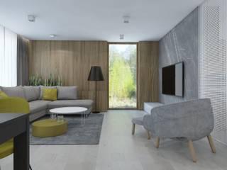 SIŁA SPOKOJU: styl , w kategorii Salon zaprojektowany przez UTOO-Pracownia Architektury Wnętrz i Krajobrazu