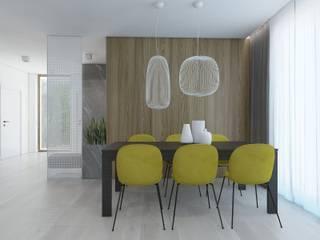 SIŁA SPOKOJU: styl , w kategorii Jadalnia zaprojektowany przez UTOO-Pracownia Architektury Wnętrz i Krajobrazu
