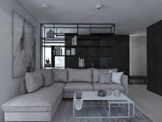 Гостиная в стиле модерн от UTOO-Pracownia Architektury Wnętrz i Krajobrazu Модерн