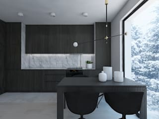 Кухня в стиле модерн от UTOO-Pracownia Architektury Wnętrz i Krajobrazu Модерн