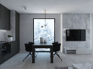 Столовая комната в стиле модерн от UTOO-Pracownia Architektury Wnętrz i Krajobrazu Модерн