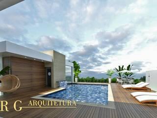 Piscinas de jardim  por DRG ARQUITETURA
