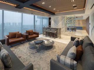 Departamento SS: Salas de estilo  por Concepto Taller de Arquitectura