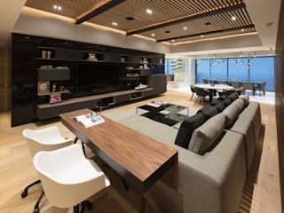 Departamento SS: Salas multimedia de estilo  por Concepto Taller de Arquitectura