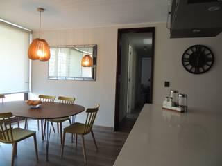 Diseño de Living Comedor por Kaa Interior: Comedores de estilo  por Kaa Interior | Arquitectura de Interior | Santiago,