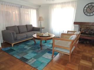 Interiorismo de Salón Comedor en Las Condes por Kaa Interior Livings de estilo clásico de Kaa Interior | Arquitectura de Interior | Santiago Clásico