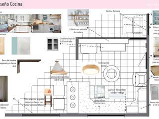 Representación del espacio y los muebles:  de estilo  por Su living