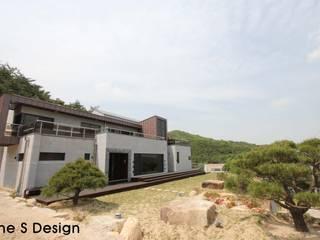 경남 하북면 예술인촌 전원주택: 에스디자인의  주택