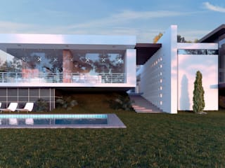 3h arquitectos Garden Pool Wood White
