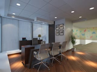ARKEMA Modern study/office by smstudio Modern