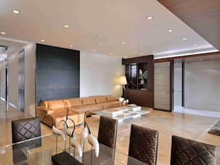 MADHUNIKETAN 9TH FLOOR Modern living room by smstudio Modern