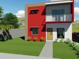 Casa Tuxtla: Casas multifamiliares de estilo  por Chg servicios y construcción