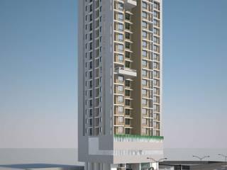 BALAJI ENCLAVE Modern houses by smstudio Modern