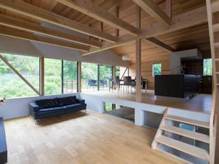 1LDKの家: 藤吉建築設計事務所が手掛けたリビングです。