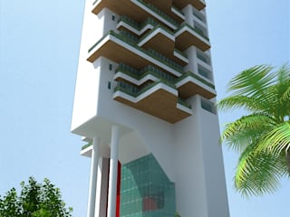 PARSVANATH DEVELOPERS Modern houses by smstudio Modern