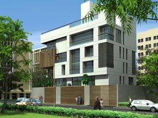 CHOKSI BUNGALOW Modern houses by smstudio Modern